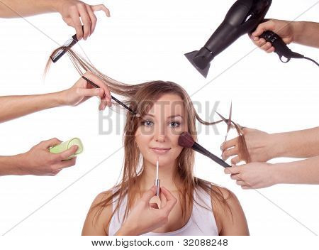Make-up, Cut, Many Hands