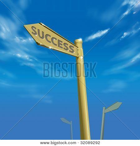 Success Way Bright Blue Sky