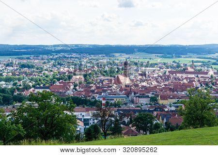 Panorama Cityview Of City Amberg Bavaria Germany