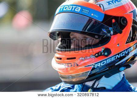 August 31, 2019 - Portland, Oregon, USA: FELIX ROSENQVIST (10) of Värnamo, Sweden  prepares to qualify for the Grand Prix of Portland at Portland International Raceway in Portland, Oregon.