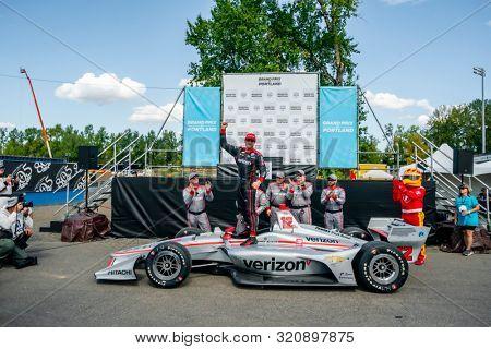 September 01, 2019 - Portland, Oregon, USA: WILL POWER (12) of Toowoomba, Australia  wins the Grand Prix of Portland at the Grand Prix of Portland at Portland International Raceway