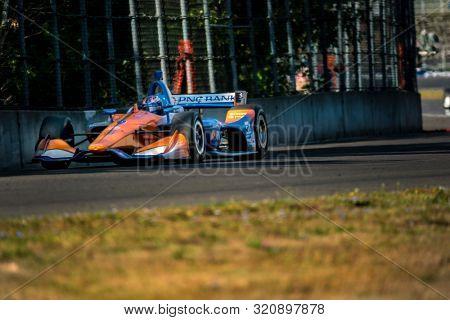 August 31, 2019 - Portland, Oregon, USA: SCOTT DIXON (9) of Auckland, New Zealand  practices for the Grand Prix of Portland at Portland International Raceway in Portland, Oregon.