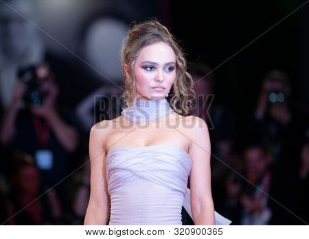 Lily-Rose Depp at the 76 Venice International Film Festival 2019. The King Red Carpet. Venice (Italy), September 2nd, 2019
