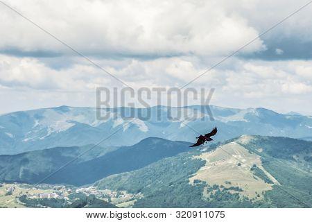 View From Prasiva Peak, Low Tatras, Slovak Republic. Seasonal Natural Scene. Travel Destination. Fly