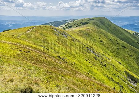 View From Velka Chochula Peak To Little Chochula, Low Tatras, Slovak Republic. Seasonal Natural Scen