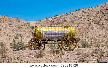 Calico Ghost Town Theme Park. Old Silver Mine Vintage Town. San Bernardino, Ca, Usa