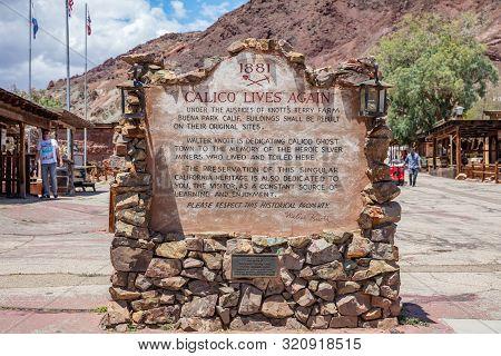 Calico Ghost Town Theme Park. Old Silver Mine Vintage Town. San Bernardino Ca, Usa