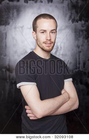 Good Looking Man Crosing Arms