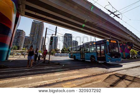 Bucharest, Romania - September 03, 2019: The Mihai Bravu Bridge Is Seen On The Mihai Bravu Boulevard