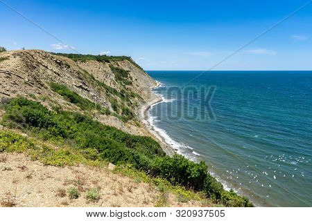 Natural Landscape. The Rocky Coast Of Cape Emine. The Bulgarian Black Sea Coast.