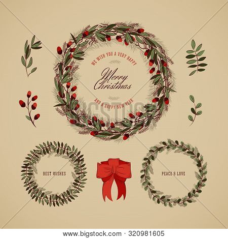 Vintage Christmas Wreath Collection 4