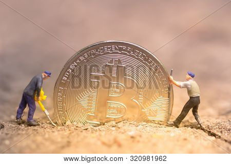 Bitcoin Mining. Virtual Cryptocurrency Mining Concept. Money Laundering Bitcoin. Bitcoin Revolution.