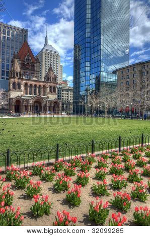 Copley Square is a public square in Back Bay Boston, Massachusetts.