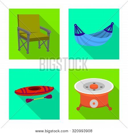 Isolated Object Of Cookout And Wildlife Icon. Collection Of Cookout And Rest Stock Symbol For Web.