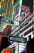photo of street signs in times square -- new york, usa poster