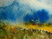 Textures in Watercolor poster