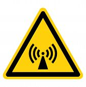 Beware Non-Ionizing Radiation Symbol, Vector Illustration, Isolate On White Background Label. EPS10 poster