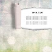 torn paper background, place for your text poster