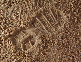 Boot print in sand