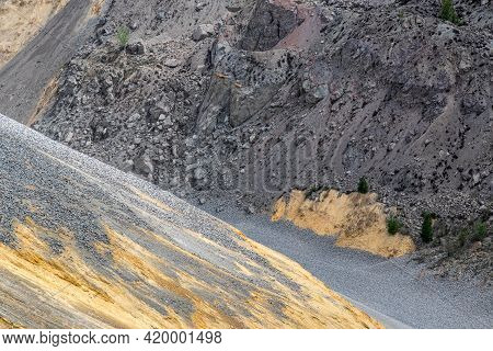 Heaps Of Tailings And Mine Dumps In Bor, Eastern Serbia, One Of The Largest Copper Mines In Europe