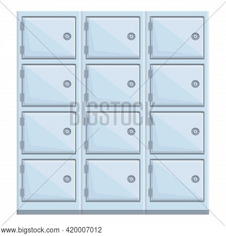 Deposit Bank Room Icon. Cartoon Of Deposit Bank Room Vector Icon For Web Design Isolated On White Ba