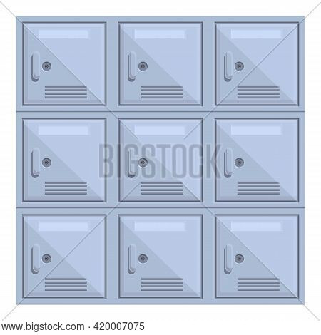 Deposit Room Square Icon. Cartoon Of Deposit Room Square Vector Icon For Web Design Isolated On Whit