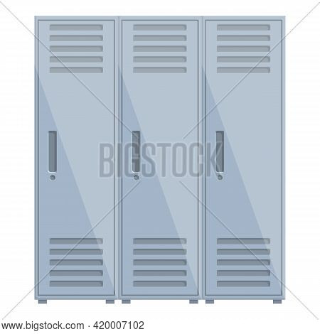 Deposit Room Secure Icon. Cartoon Of Deposit Room Secure Vector Icon For Web Design Isolated On Whit