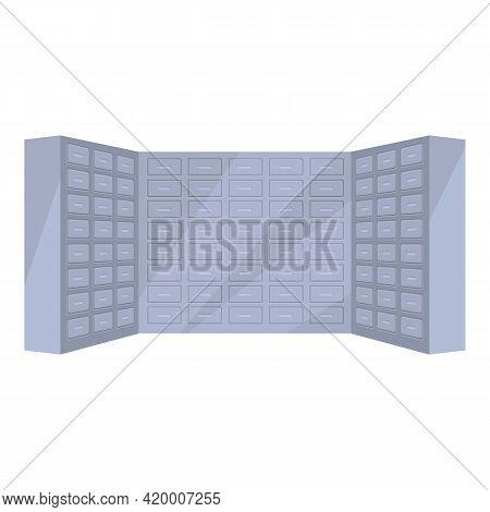 Deposit Room Interior Icon. Cartoon Of Deposit Room Interior Vector Icon For Web Design Isolated On