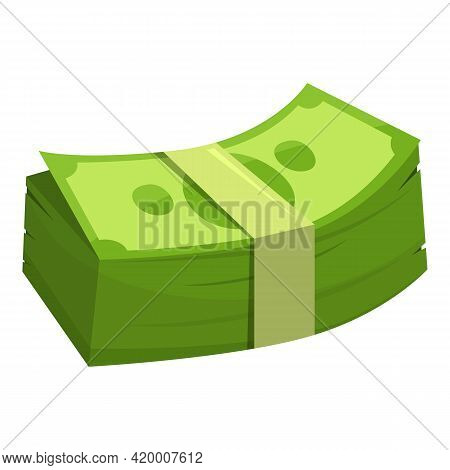 New Money Cash Icon. Cartoon Of New Money Cash Vector Icon For Web Design Isolated On White Backgrou