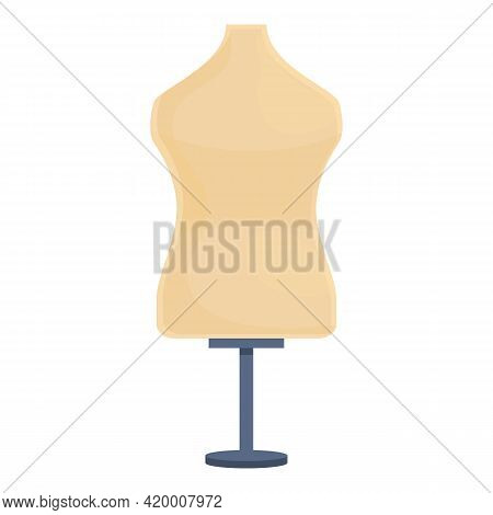 Haberdashery Mannequin Icon. Cartoon Of Haberdashery Mannequin Vector Icon For Web Design Isolated O