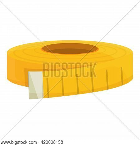 Measurement Tape Icon. Cartoon Of Measurement Tape Vector Icon For Web Design Isolated On White Back