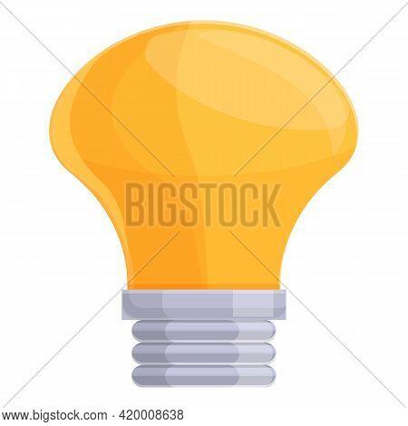 Smart Lightbulb Lamp Icon. Cartoon Of Smart Lightbulb Lamp Vector Icon For Web Design Isolated On Wh