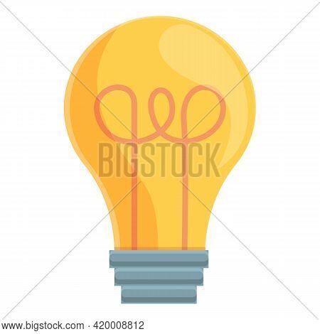 Smart Lightbulb Innovation Icon. Cartoon Of Smart Lightbulb Innovation Vector Icon For Web Design Is