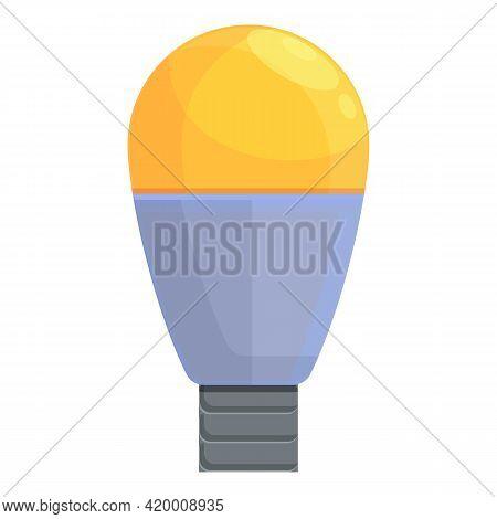 Smart Lightbulb Strategy Icon. Cartoon Of Smart Lightbulb Strategy Vector Icon For Web Design Isolat