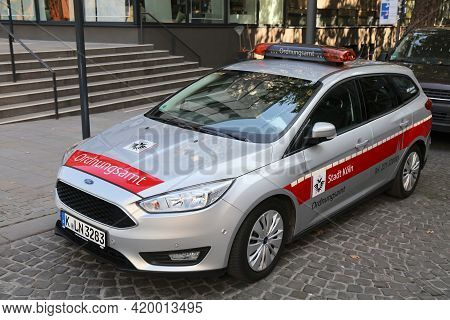 Cologne, Germany - September 22, 2020: Ordnungsamt (city Watch) Vehicle In Cologne City, Germany. Co