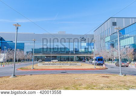 New Orleans, La - January 19: Front Of Southeast Louisiana Veterans Hospital On January 19, 2021 In