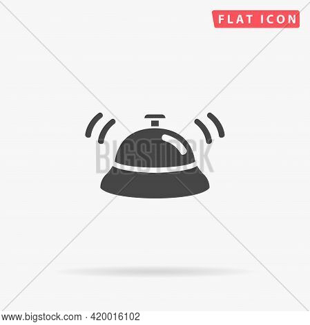 Hotel Call Bell Flat Vector Icon. Hand Drawn Style Design Illustrations.