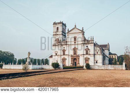 Se Cathedral Church in Old Goa, India. Landmarks of Goa