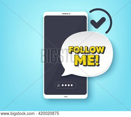 Follow Me Symbol. Mobile Phone With Alert Notification Message. Special Offer Sign. Super Offer. Cus