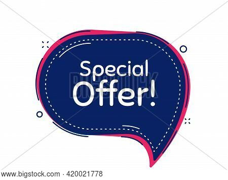 Special Offer Symbol. Thought Bubble Vector Banner. Sale Sign. Advertising Discounts Symbol. Dialogu