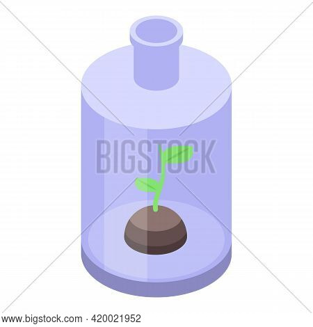 Research Plant Flask Icon. Isometric Of Research Plant Flask Vector Icon For Web Design Isolated On