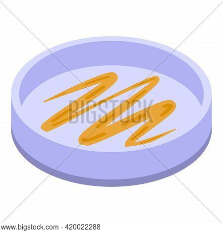 Lab Petri Dish Icon. Isometric Of Lab Petri Dish Vector Icon For Web Design Isolated On White Backgr