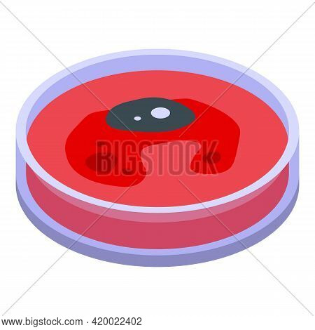 Blood Petri Dish Icon. Isometric Of Blood Petri Dish Vector Icon For Web Design Isolated On White Ba