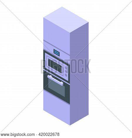 Kitchen Wardrobe Furniture Icon. Isometric Of Kitchen Wardrobe Furniture Vector Icon For Web Design