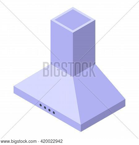 Kitchen Hood Icon. Isometric Of Kitchen Hood Vector Icon For Web Design Isolated On White Background