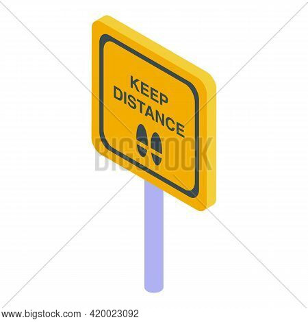 Sign Keep Distance Icon. Isometric Of Sign Keep Distance Vector Icon For Web Design Isolated On Whit
