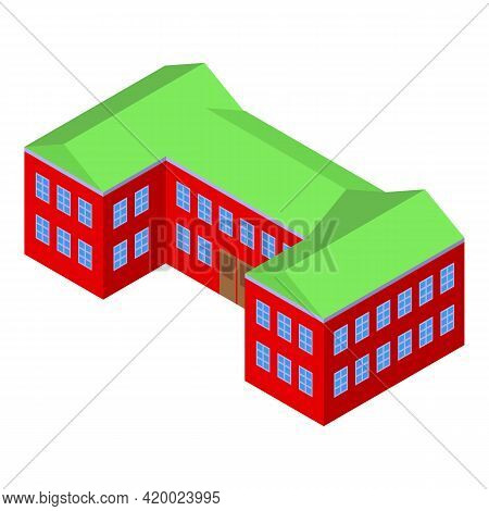 Campus Icon. Isometric Of Campus Vector Icon For Web Design Isolated On White Background