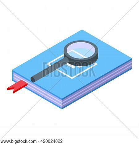 Campus Search Book Icon. Isometric Of Campus Search Book Vector Icon For Web Design Isolated On Whit