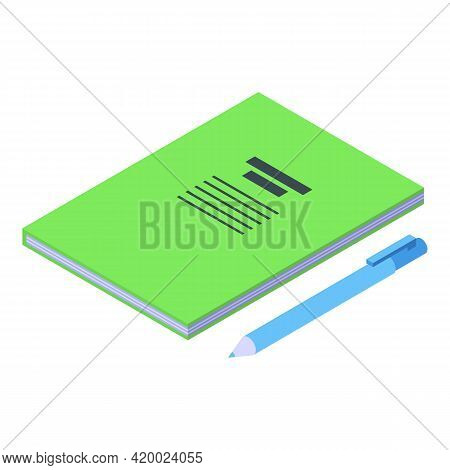 Campus Notebook Icon. Isometric Of Campus Notebook Vector Icon For Web Design Isolated On White Back