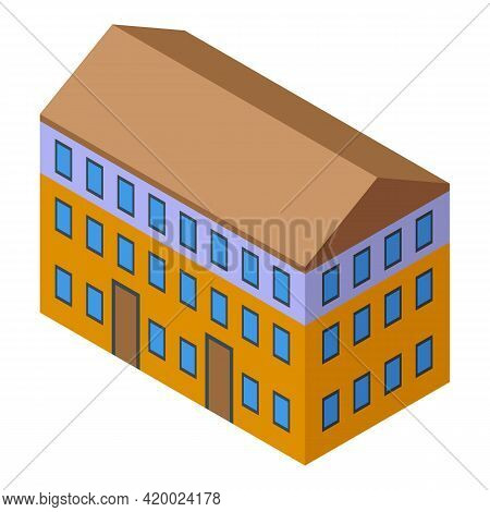 Campus House Icon. Isometric Of Campus House Vector Icon For Web Design Isolated On White Background